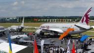 In diesem Jahr unter ungünstigen Vorzeichen: Flugmesse in Farnborough.
