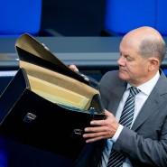 Bundesfinanzminister Olaf Scholz (SPD): Nicht nur die Opposition wirft der Regierung Verstöße gegen die Haushaltsgrundsätze vor.