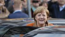 Angela Merkel ist derzeit im saarländischen Sankt Wendel und macht Wahlkampf für ihre Ministerpräsidentin.