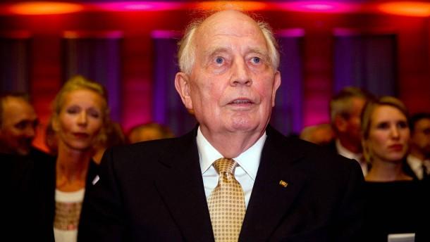 Früherer Bundesbank-Präsident Hans Tietmeyer ist tot