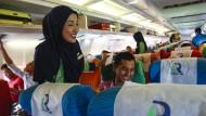 Seit einem Monat ist die malaysische islamische Fluggesellschaft Rayani Air im Geschäft.