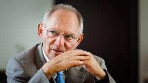 Schäuble: Flut verkleinert Spielraum für Wahlgeschenke