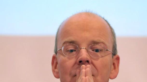 Dresdner Bank tief in den roten Zahlen