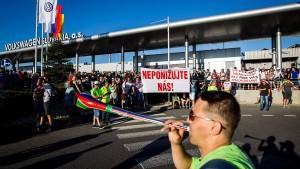VW-Beschäftigte beenden Streik in der Slowakei