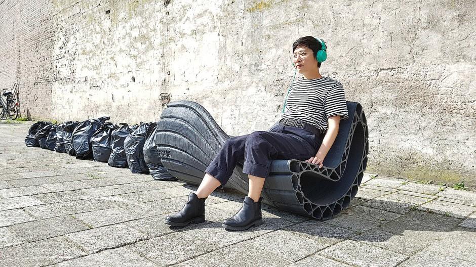 Aus geschmolzenem Altplastik: Stadtmöbel aus dem 3D-Drucker von The New Raw