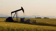 Ölpumpe fördert Öl: Pro Barrel gibt es nur noch unter 40 Dollar.