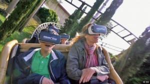 Achterbahnfahrt in der virtuellen Realität