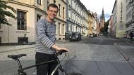 """Maut-Gegener: Bjørn Revil, Spitzenkandidat der Partei """"Volksaktion Nein zu mehr Maut"""" in Oslo"""