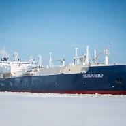 """Der eisbrechende LNG-Tanker """"Christophe de Margerie"""" des russischen Staatsunternehmens Sovcomflot"""