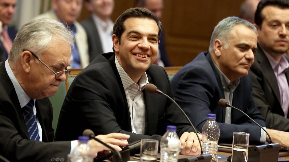 Kabinettssitzung in Athen: Ministerpräsident Tsipras braucht dringend einen Erfolg, den er den Wählern vorweisen kann.