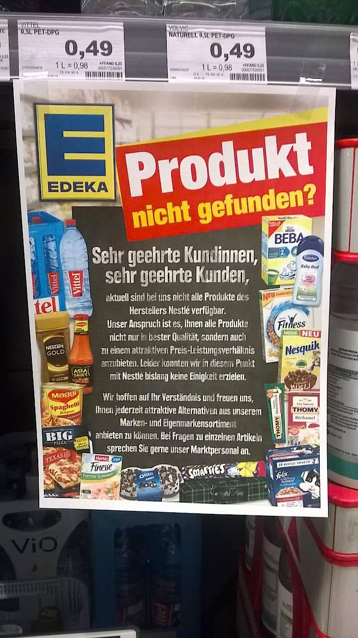 Härtere Bandagen:Neue Aktion einer Edeka-Filiale