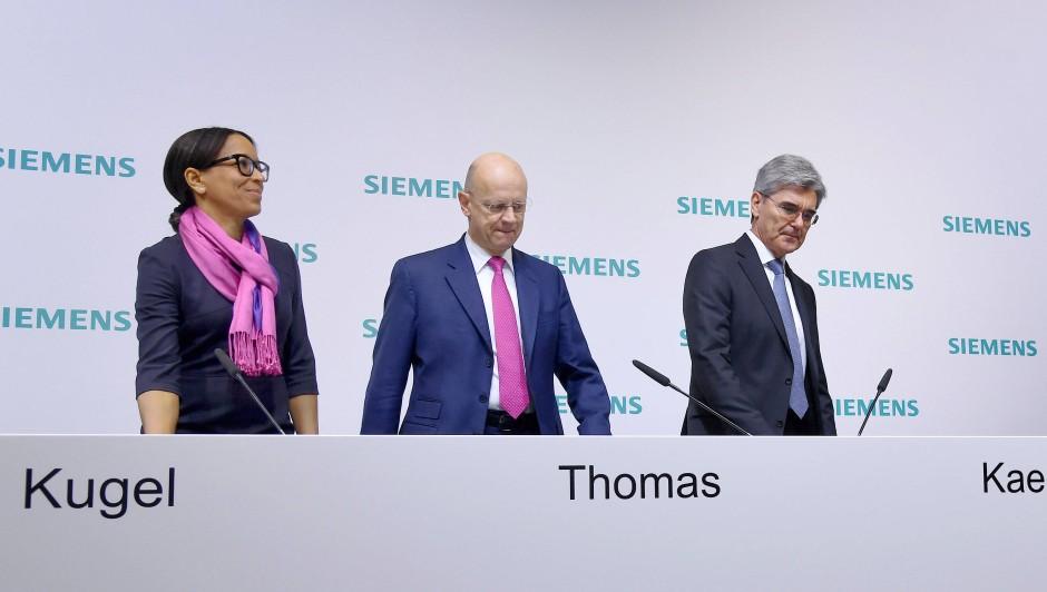 Herrschen hier K+K? Janina Kugel und Siemens-Vorstandsvorsitzender Joe Kaeser (rechts) dominieren das öffentliche Bild von Siemens.