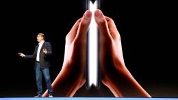Samsung stellt faltbares Smartphone vor