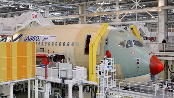 Inauguration of the new Airbus A350 final assembly line