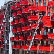Blick auf einen Neubau in Berlin-Kreuzberg