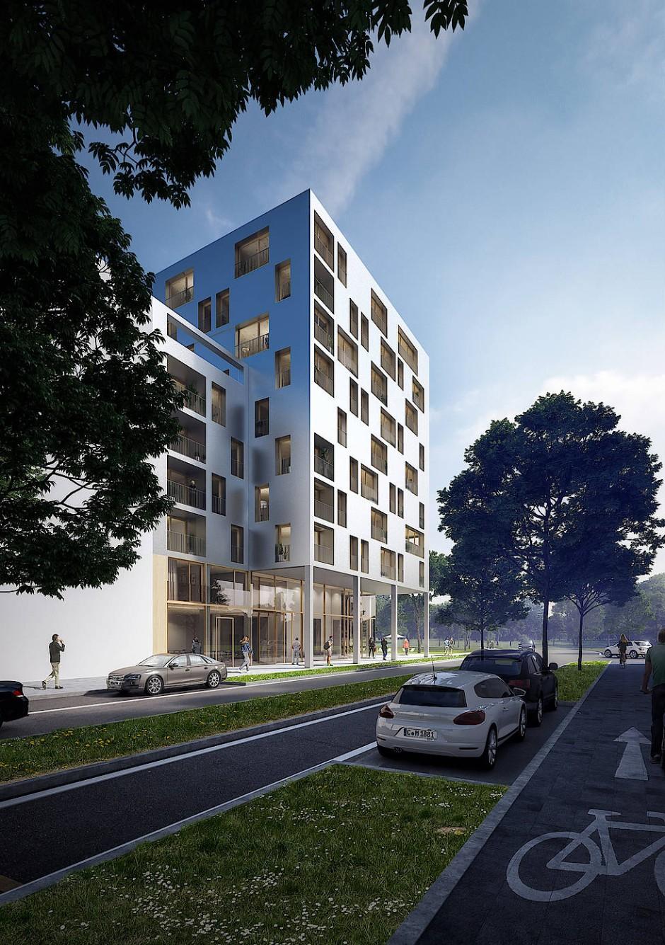 Vorzeigeprojekt Scaio: In Heilbronn entsteht Deutschlands höchstes Holzhaus.