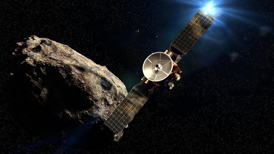 Der geplante Start der Sonde ist 2028. Ein Vorbeiflug an der Venus und der Erde (hier in einer mit dem Computer generierten Darstellung) soll ihr den nötigen Schwung geben für die Reise zum Asteroidengürtel.