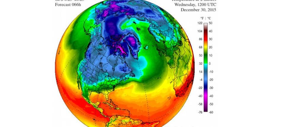 Nordpol Temperatur