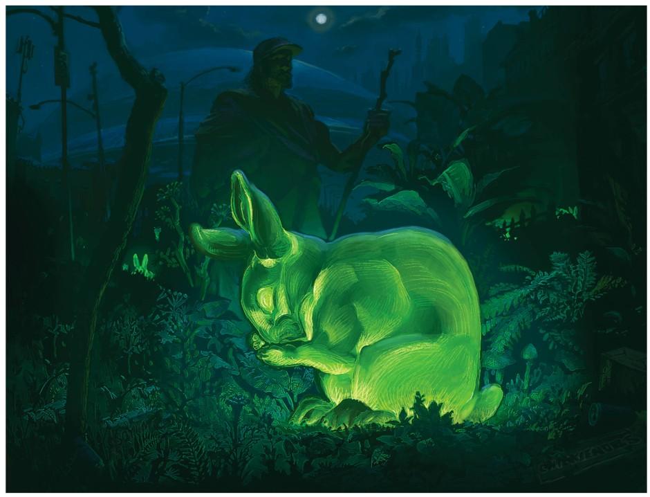 Leuchtende Karnickel hoppeln im Roman munter durch die Wälder. Tatsächlich ist es gar nicht schwer, sie herzustellen.