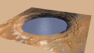 Der Gale-Krater war einst ein See