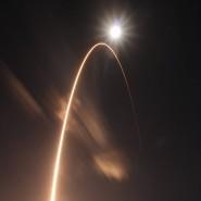 """""""Solar Orbiter"""" an Bord: Die Atlas-V-Rakete kurz nach dem Start um 5:03 Uhr von Cape Canaveral."""