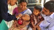 Schluckimpfung in Indien