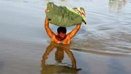 Überschwemmung in der pakistanischen Region Larkana im August diesen Jahres.