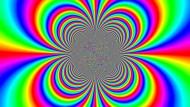 Mit Komplexem ist zu rechnen,  was selbst Mathematikern nicht überall leicht fällt. Das Bild zeigt den sogenannten Phasenplot einer komplexen Funktion, die sich am Nullpunkt (Zentrum) recht ungebührlich verhält.