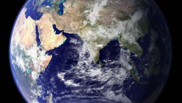 Erdkugel satellitenaufnahme