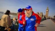 Der Brite Buster Martin, 101 Jahre alt, trainiert für den London Marathon.