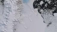 Satellitenaufnahme vom 12. Juli von der Antarktischen Halbinsel.