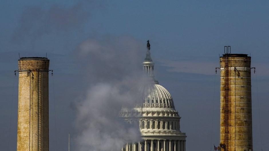 Das Kapitol in Washington kurz vor dem Klimagipfel.