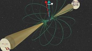 Einstein bringt Pulsar zum Taumeln