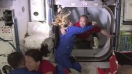 Die Crew der Raumstation hat Verstärkung bekommen