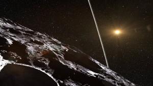 Asteroid mit Heiligenschein