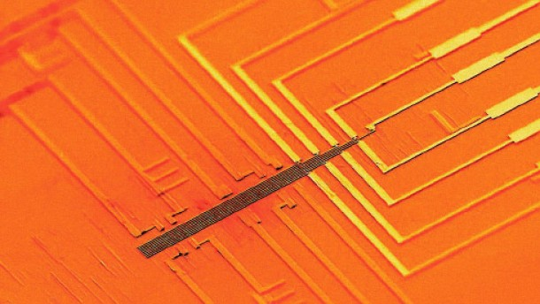 Der Computerchip aus Nanodrähten