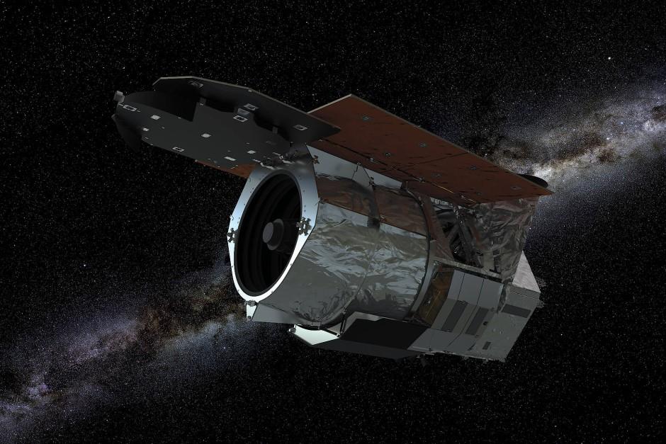 """Künstlerische Darstellung des """"Nancy Grace Roman Space Telescope"""""""