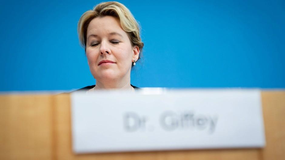 Das war`s dann wohl: Dr. Giffey