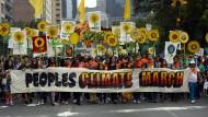 Zum größten Klimamarsch in New York am 21. September 2014 kamen mehr als 300.000 Demonstranten.