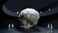 Das Modell des geplanten begehbaren Gehirns.