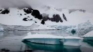Antarktische Berge. Unter dem Eis halten sie sich noch besser.