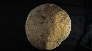 Ein Steinfindling nahe der Knochenfundstelle - nach Überzeugung der Forscher ein Werkzeug der Ur-Ur-Amerikaner.