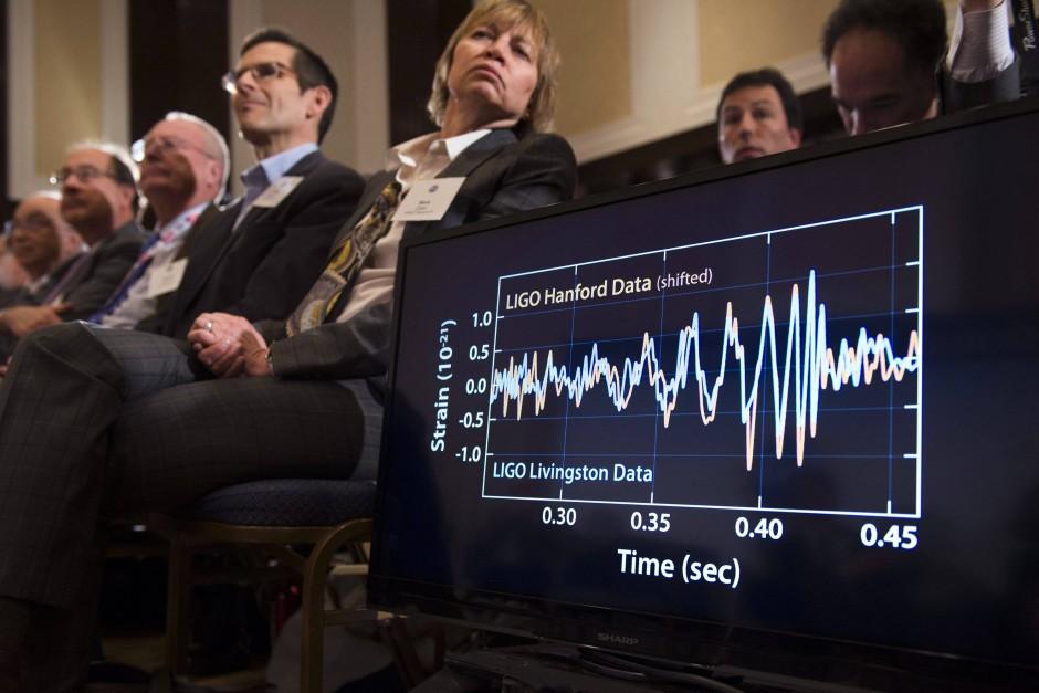 So sah das vom Ligo-Detektor in Hanford gemessene Signal aus.