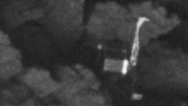 Landeroboter auf Komet entdeckt