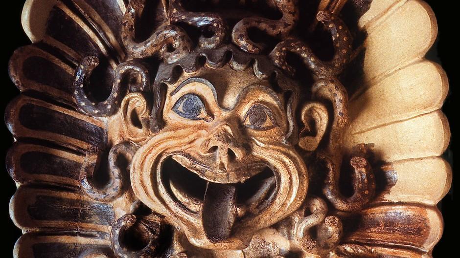 Zunge Zeigen: Gorgo aus dem Heiligtum der Minerva in Portonacchio
