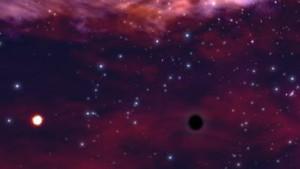 Schwarzes Loch zerreißt Stern