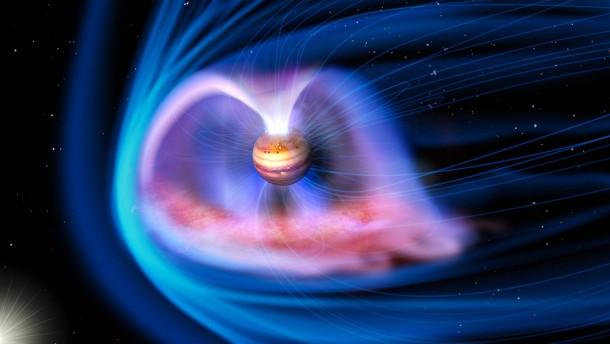Die Aurora des Gasplaneten