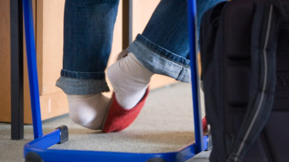 Über dem Zappeln schwebt der Krankheitsverdacht: in einem privaten Gymnasium für Schüler mit ADHS