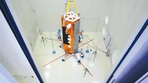 Radarsatellit mit Gummilinse