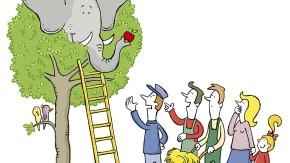 Alles im grünen Bereich: Jeder Gartenbesitzer braucht irgendwann eine Leiter